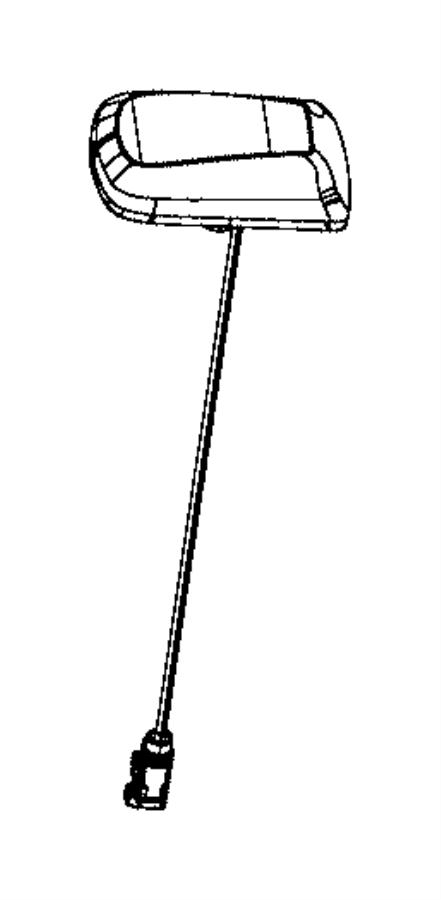 Chrysler 200 Radio Antenna Assembly. W/o UConnect, velvet