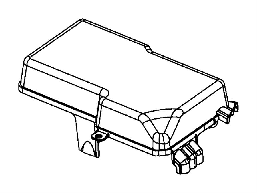 Dodge Dart Fuse Box Cover (Upper). Fuse Box Cover. Power