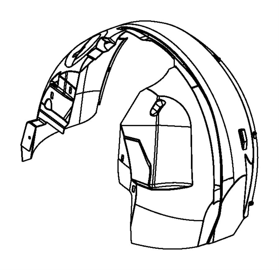 Dodge Grand Caravan Fender Splash Shield (Rear