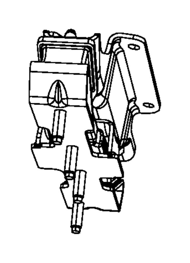 Dodge Ram 3500 Automatic Transmission Mount Bracket (Rear