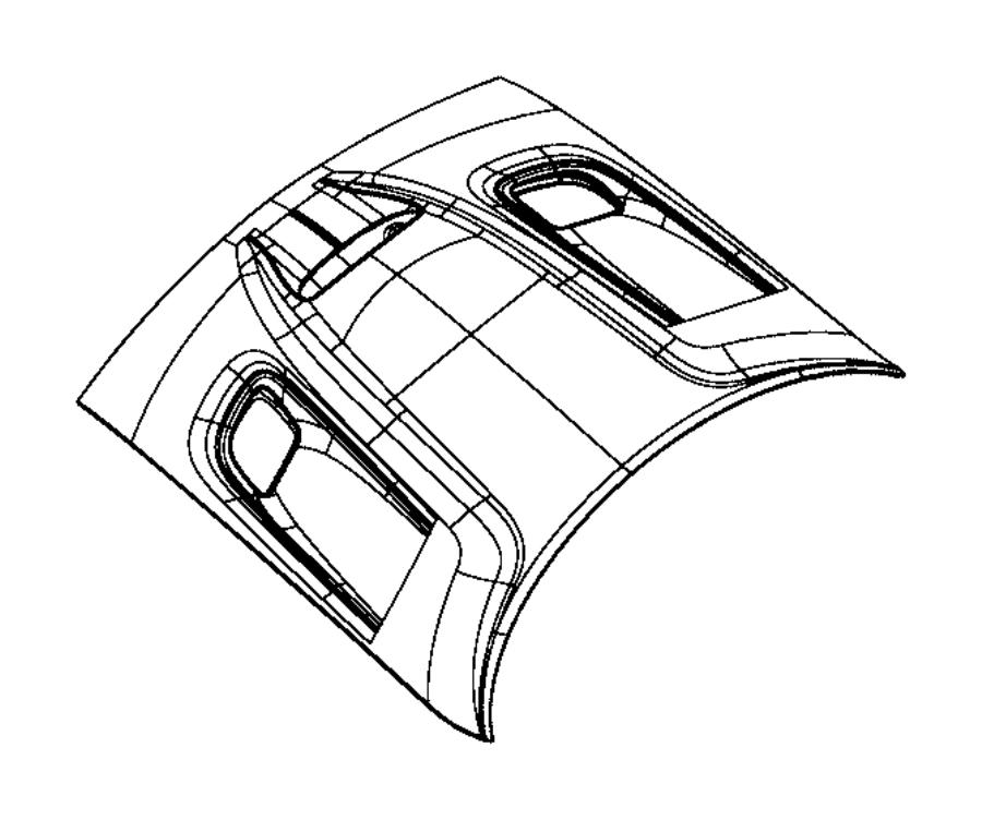 Dodge Challenger Hood Panel. 2015-21, CENTER INTAKE VENT