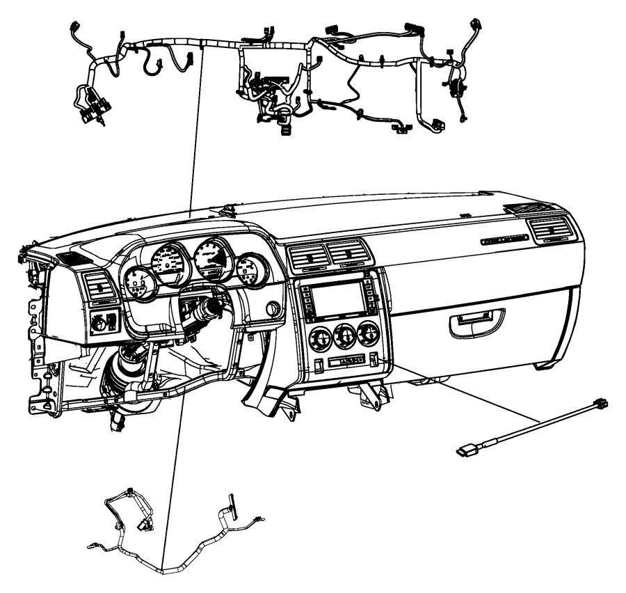 Dodge Durango Steering Wheel Wiring Harness. 2014-19, w