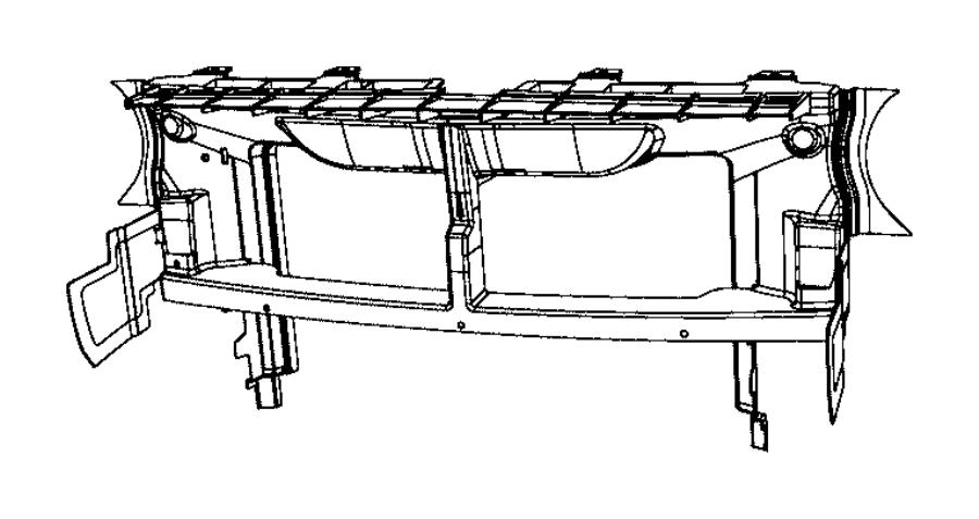 Dodge Challenger Bumper Cover Support Rail. W/O WIDE BODY