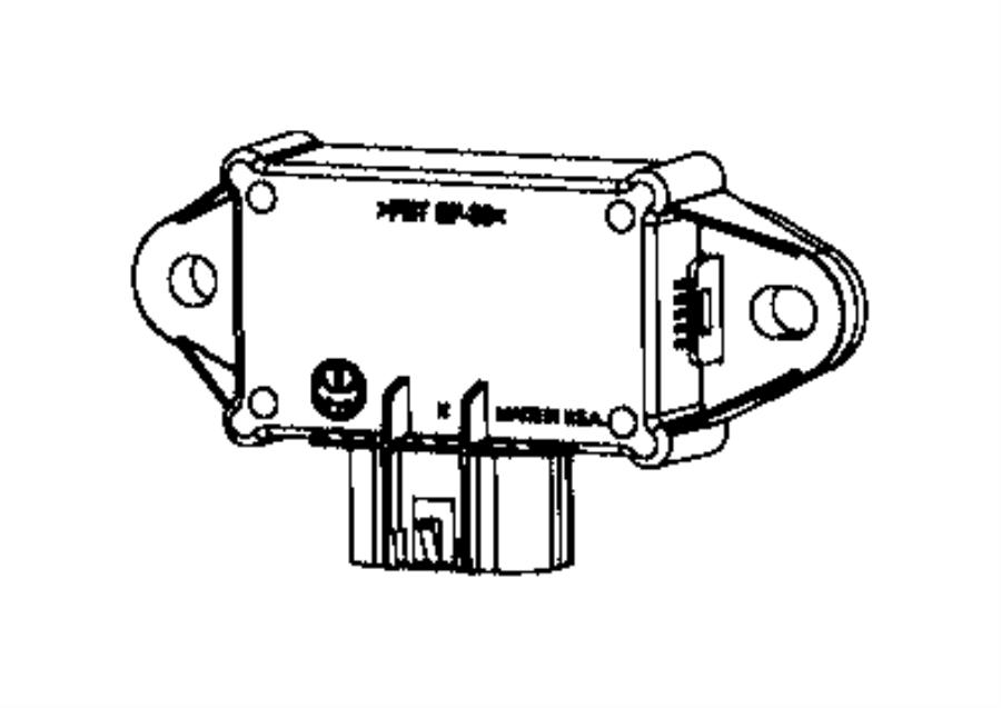 Chrysler Pacifica Fuel Pump Driver Module. CONTROL MODULES