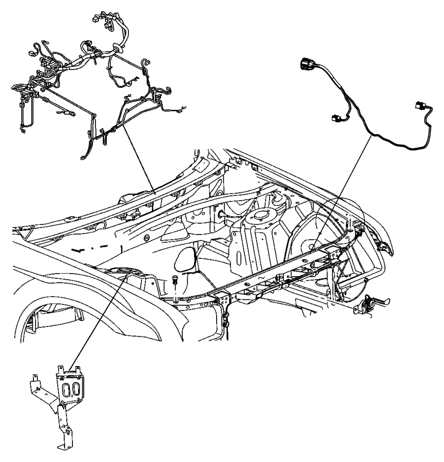 Dodge Challenger Fuse and Relay Center Bracket. ENGINE