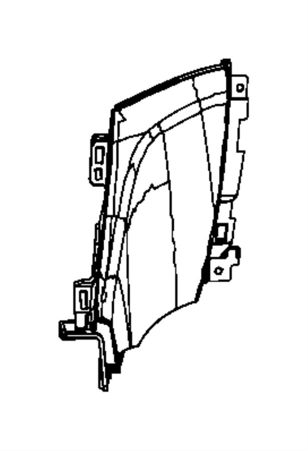 Jeep Grand Cherokee Instrument Panel Knee Bolster (Lower