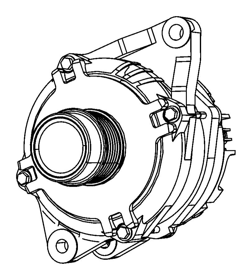 Dodge Journey Alternator. Engine. 2.4 liter