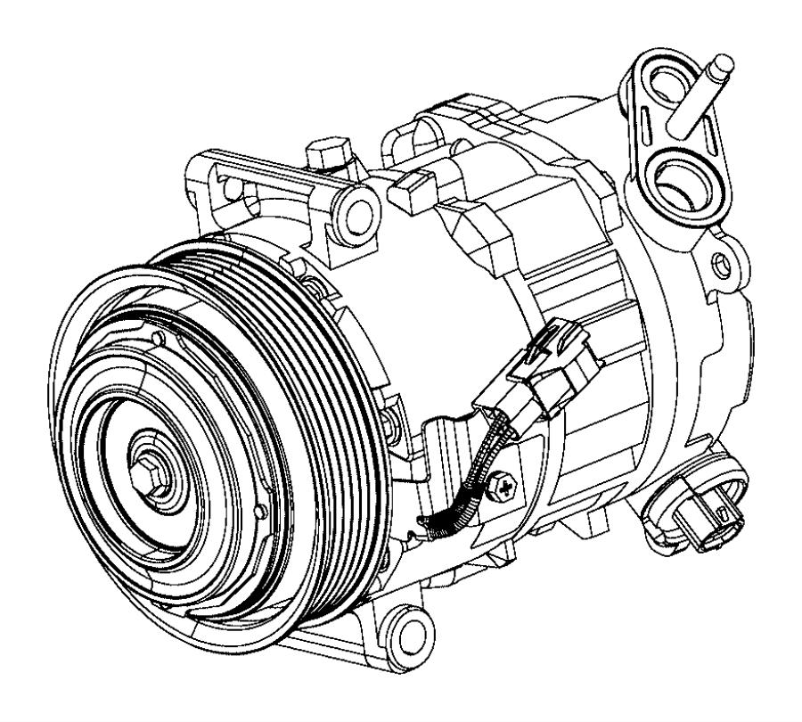 Jeep Cherokee A/c compressor. Repair, make, liter