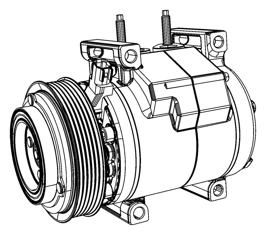Jeep Grand Cherokee A/c compressor. Repair, make