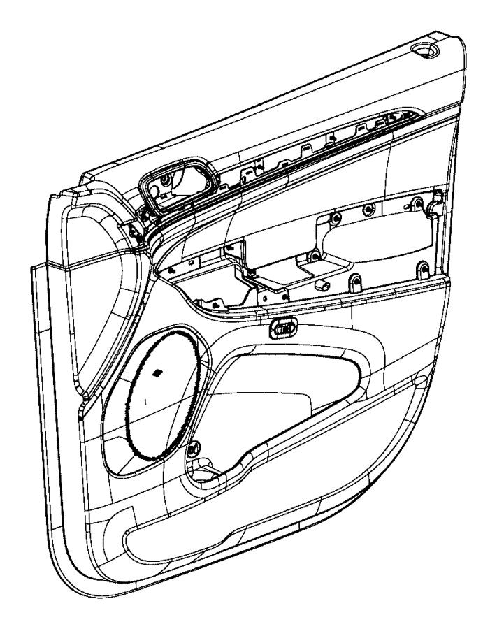 Jeep Grand Cherokee Door Interior Trim Panel. Overland
