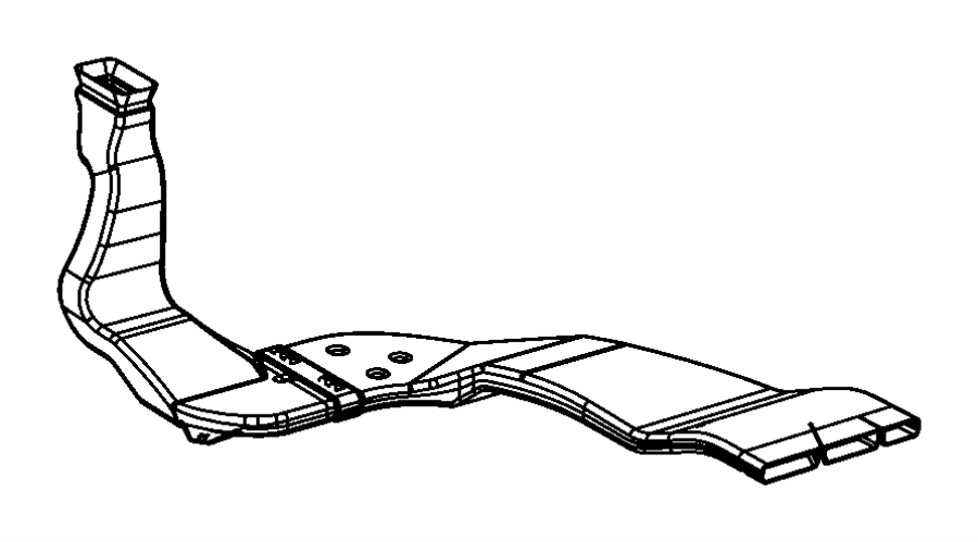 Dodge Grand Caravan Instrument Panel Air Duct (Front