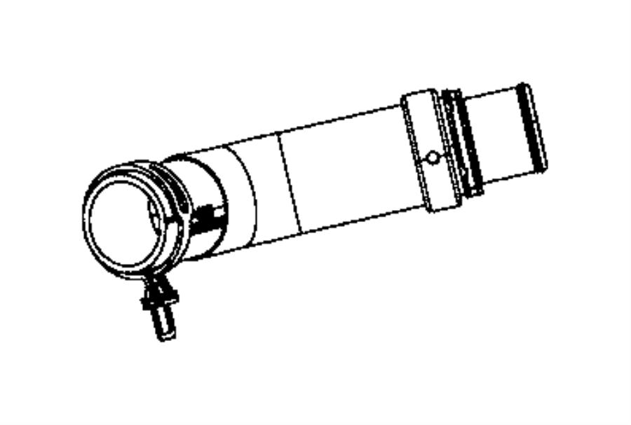 Ram 3500 Radiator Coolant Hose (Lower). 6.7 LITER TURBO