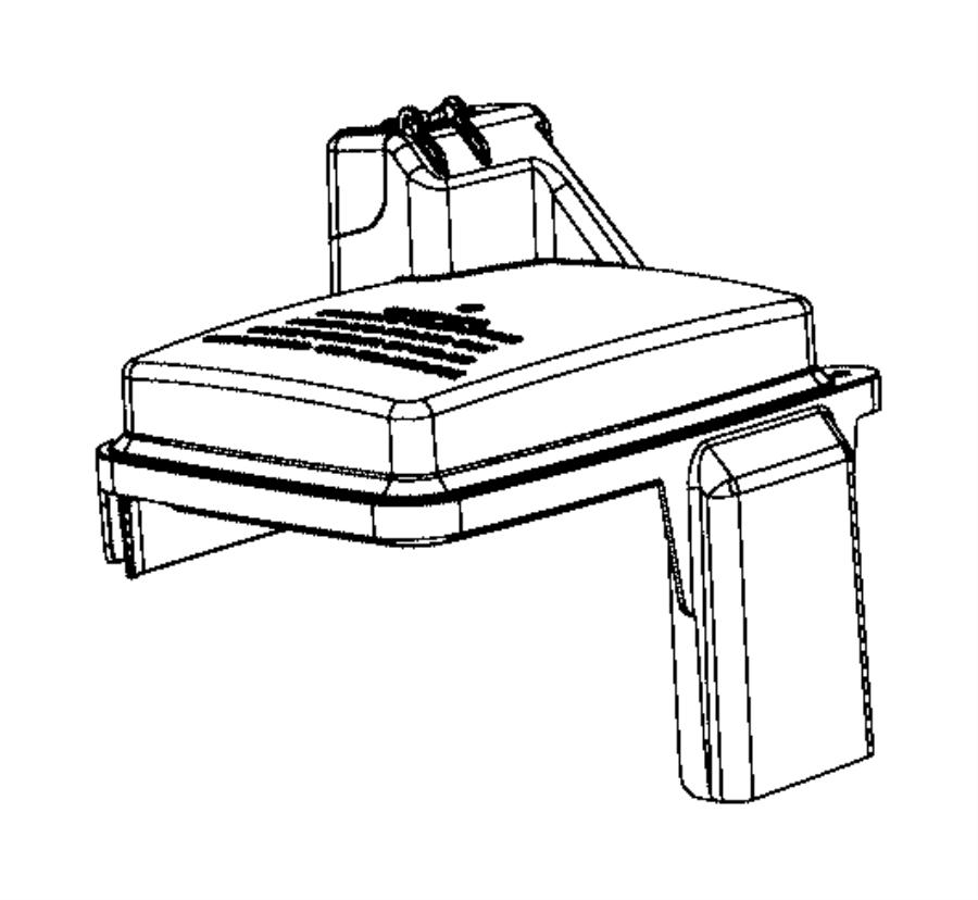 Ram ProMaster 1500 Fuse Box Cover. Upper, Telematics