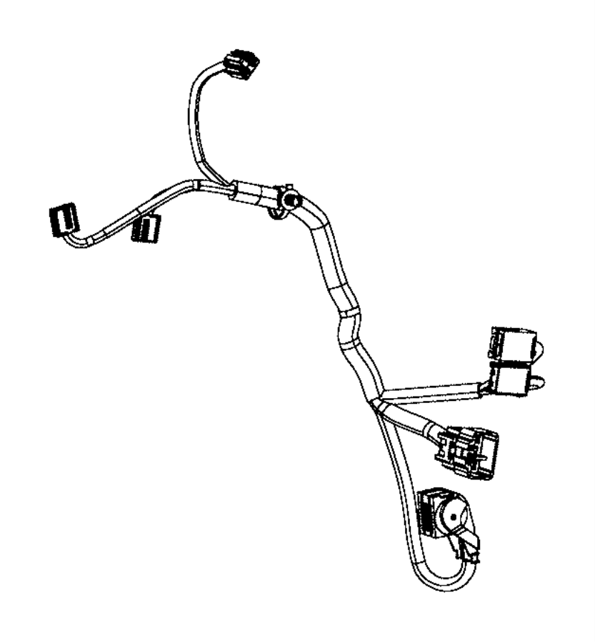 Chrysler Town & Country Hvac system wiring harness. W/rear