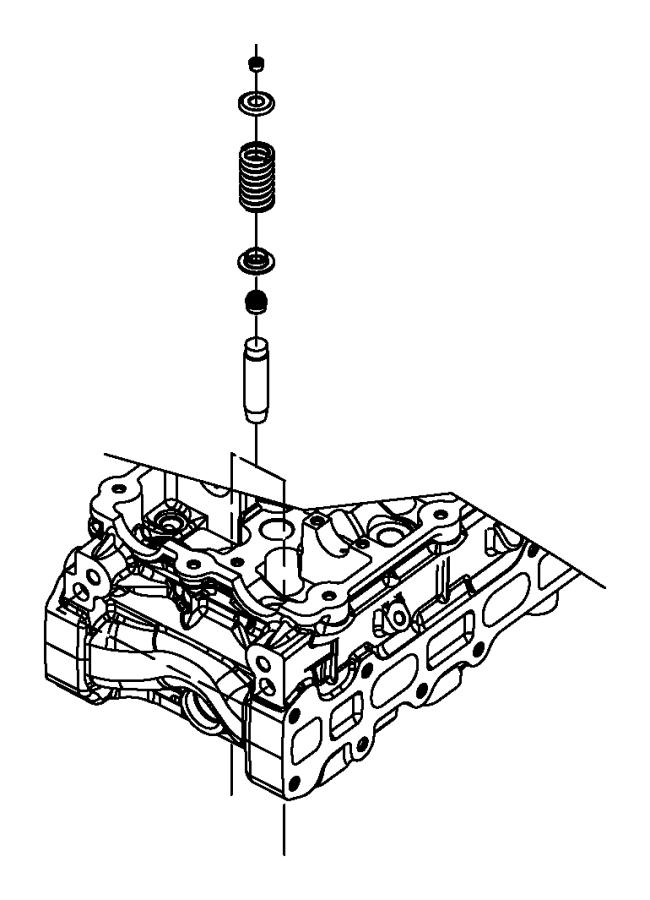 Dodge Caravan Engine Valve Guide. All Models. Exhaust