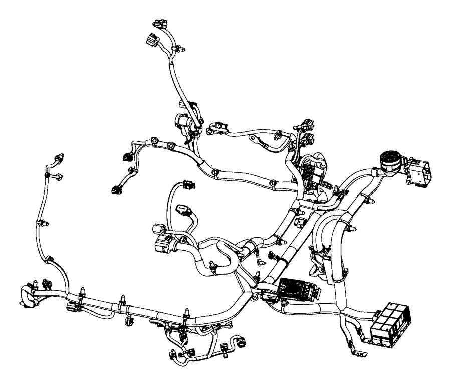 Chrysler 200 Engine Wiring Harness. 3.6 liter, AWD