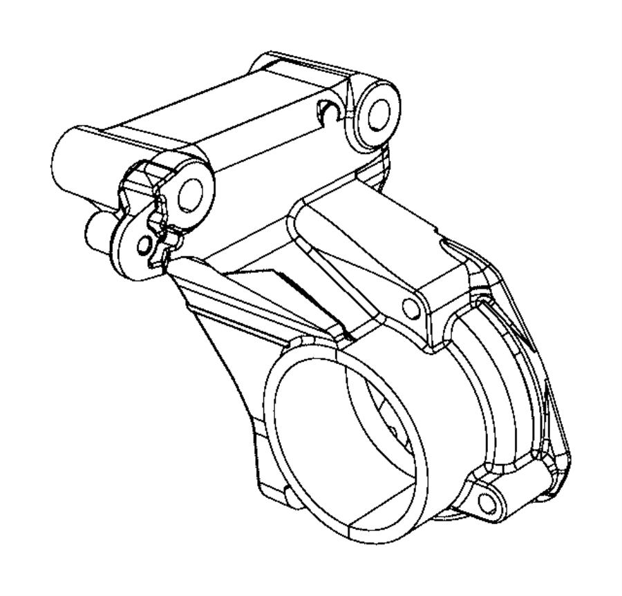Jeep Renegade Cv axle shaft carrier bearing. Liter, front