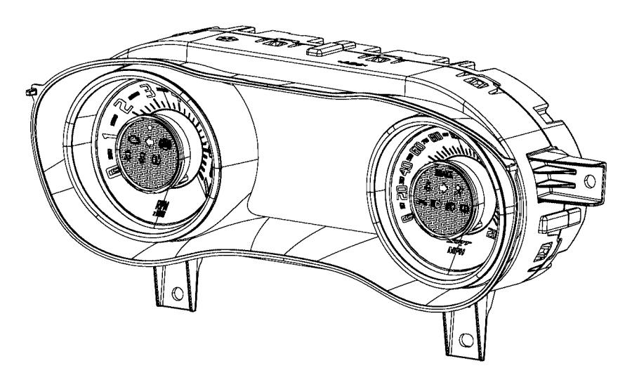Dodge Challenger Instant cluster. Instrument panel. Auto