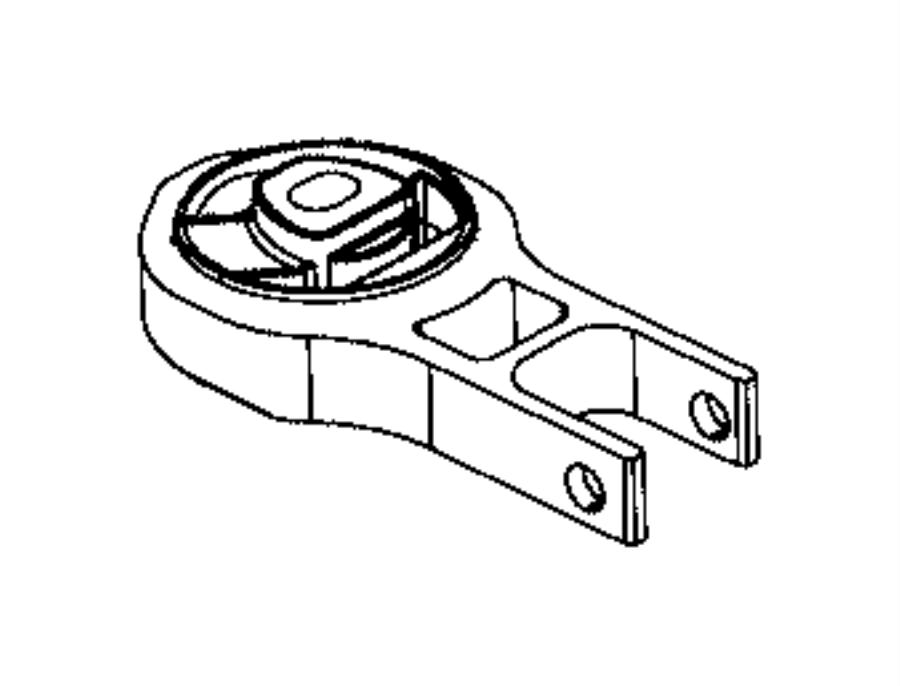 Jeep Compass Insulator. Transmission mount. Auto, speed