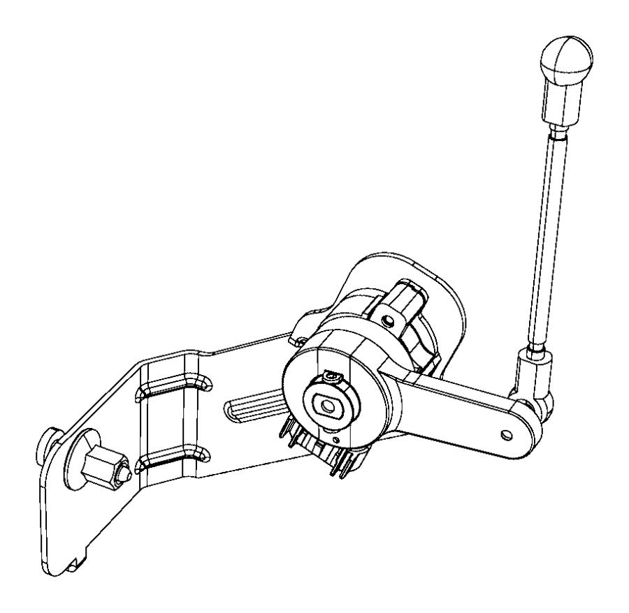 Chrysler 300 Headlight Level Sensor. 300. W/HID, front