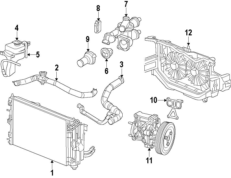 Dodge Caliber Engine Coolant Reservoir Cap. LITER