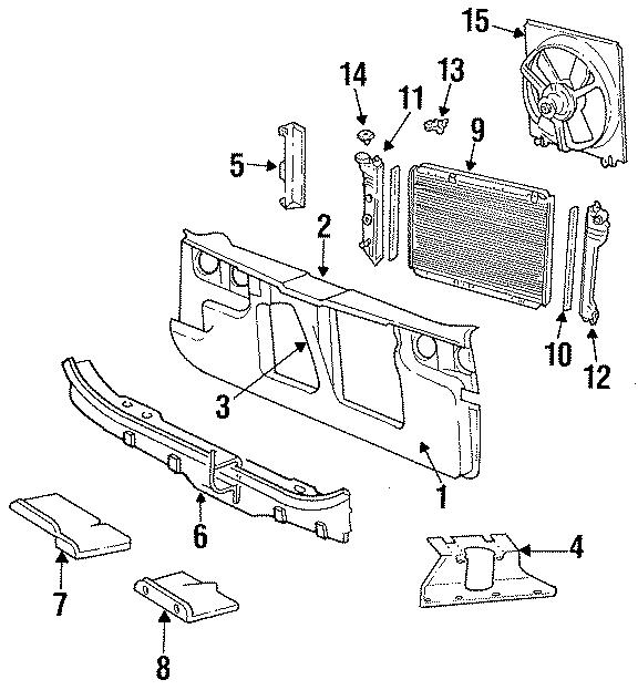 Chrysler LeBaron Tank. Outlet, manual trans. RADIATOR
