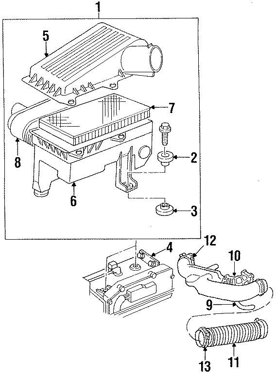 Chrysler Concorde Air cleaner Assembly. 3.3 LITER. 3.5