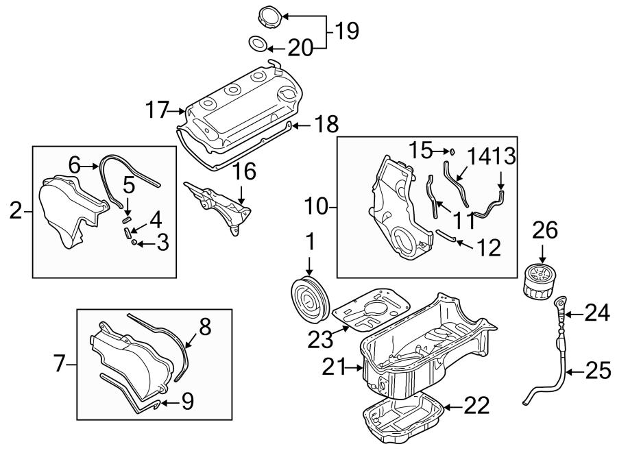 Chrysler Sebring Engine Timing Cover Gasket. 3.0 LITER