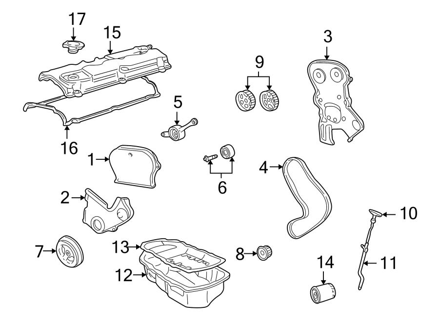 Chrysler Sebring Engine Timing Cover. Inner, LITER, Sedan
