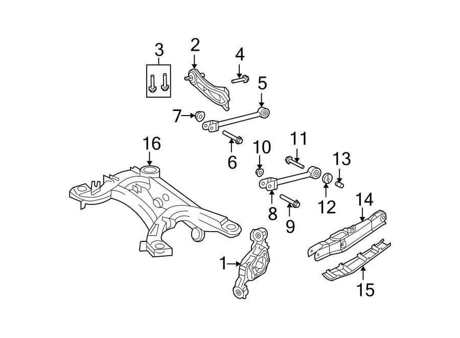 Chrysler Sebring Suspension Subframe Crossmember (Rear