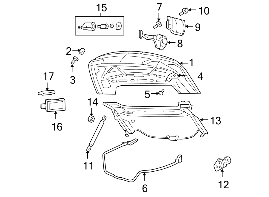 Chrysler Sebring Screw. CONVERTIBLE. CONVERTIBLE