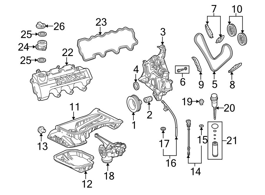Chrysler Crossfire Engine Crankshaft Seal (Front
