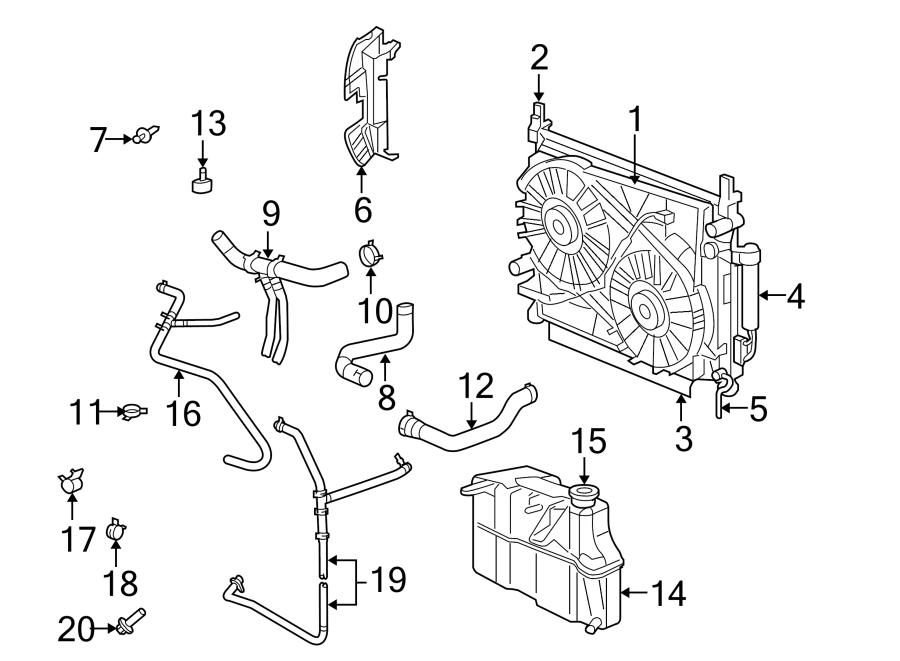 Chrysler 300 Radiator Coolant Hose. LITER, COOLING, Duty