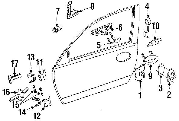 Dodge Intrepid Grille. Handle, inside. REMOTE CONTROL. AC