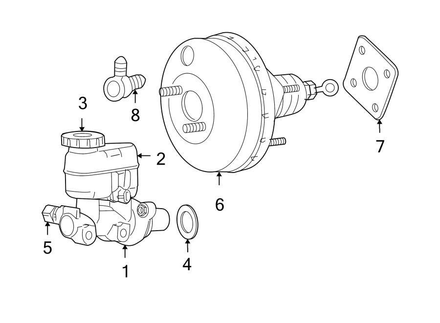 Dodge Neon Gasket. Cylinder. Master. Booster. Brake. 2005