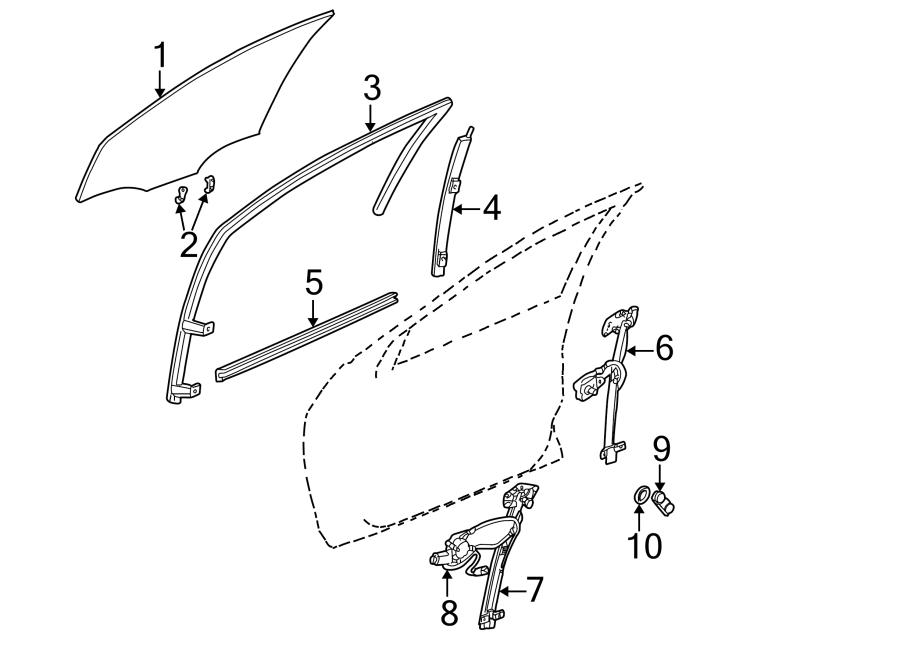 Dodge Neon Regulator handle spacer. Dark quartz. DOOR