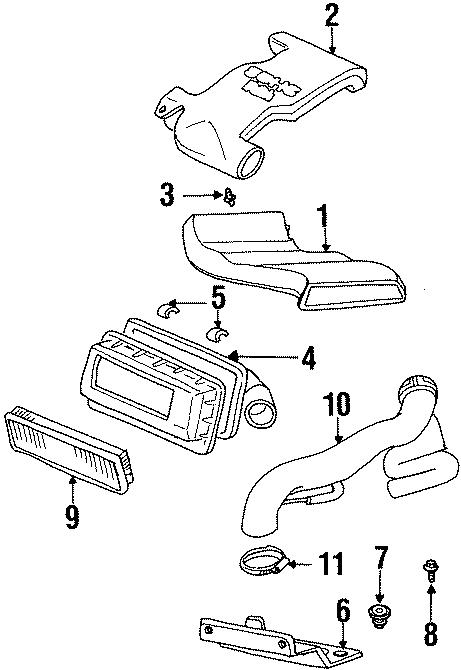 Dodge Neon Air inlet stud. DOHC, 1997-99. SOHC, 1997-99