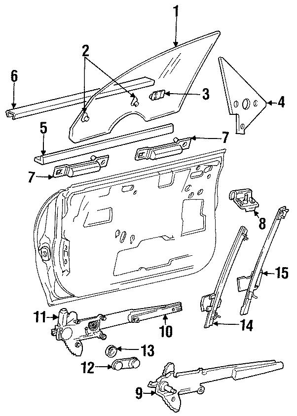 Dodge Neon Belt w'strip. 2 DOOR, inner. GLASS, FCA