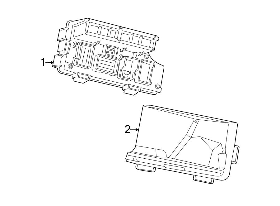 Chrysler 200 Shield. Splash. Telematics, Lighting, FUSE