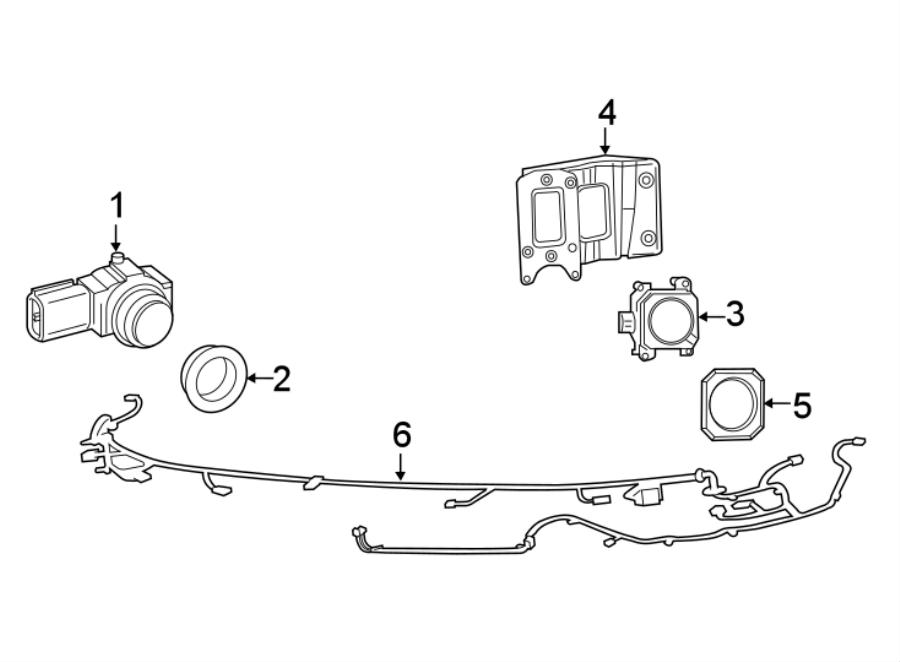 Chrysler 200 Parking Aid System Wiring Harness. W/o fog