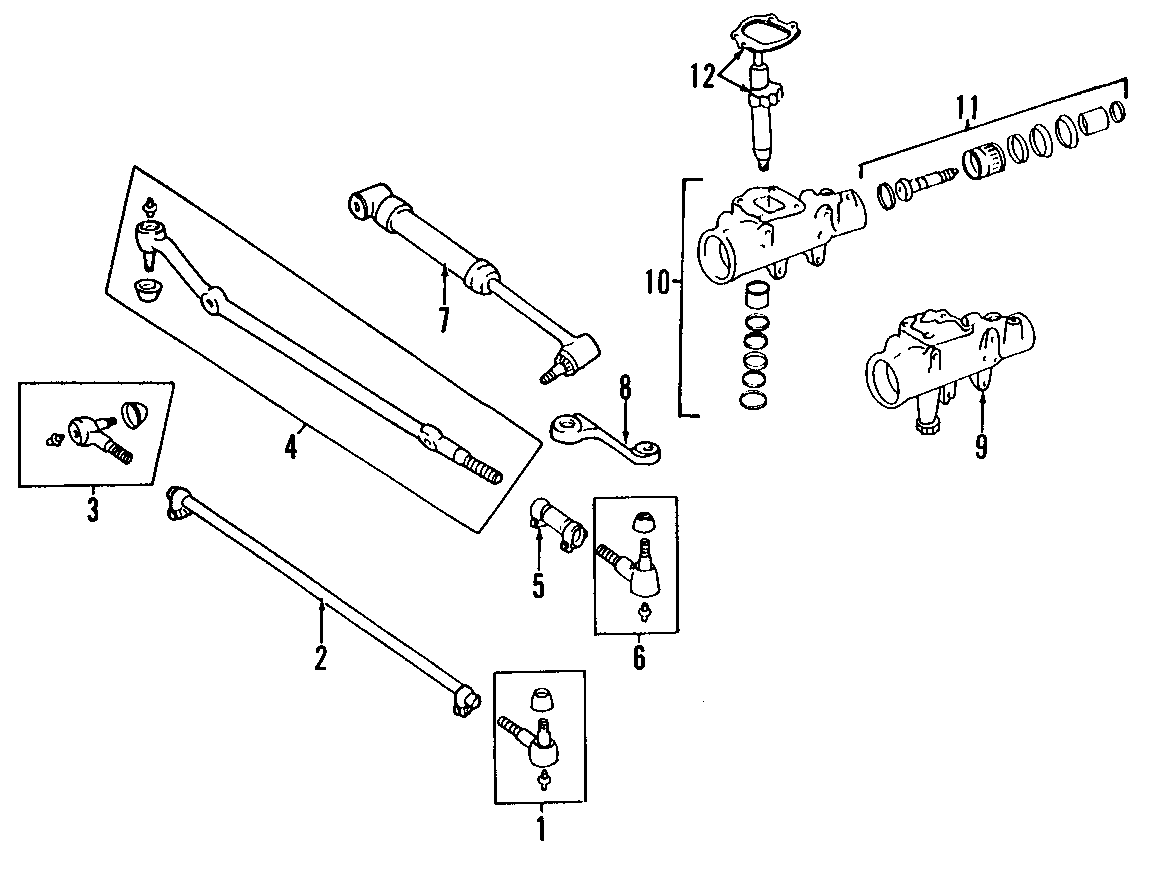 Jeep CJ7 Damper assembly. Steering damper. Cj, yj series