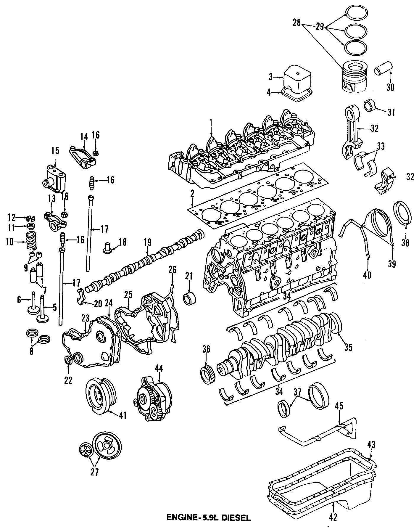 Dodge Ram 3500 Engine Crankshaft Seal (Rear). Crankshaft