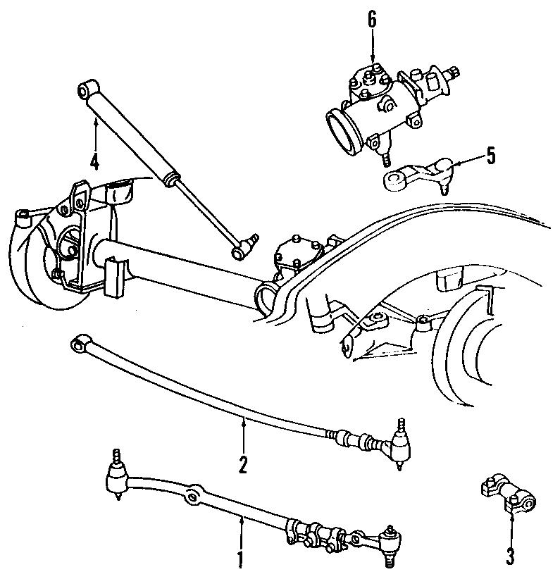 Dodge Ram 1500 Steering Tie Rod Assembly. LINKAGE, GEAR