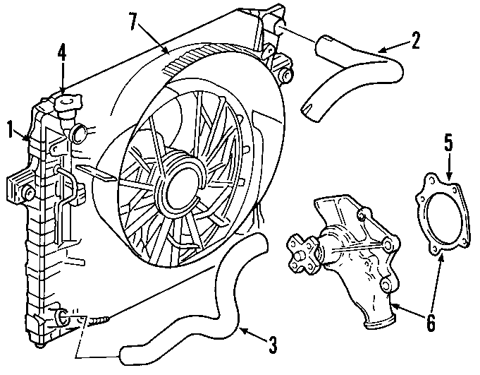 Jeep Grand Cherokee Radiator Coolant Hose (Upper, Lower