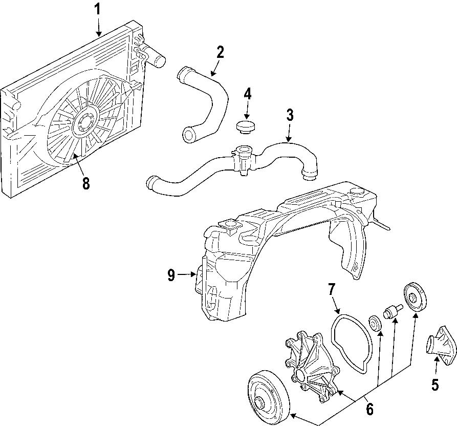 Dodge Dakota Radiator Coolant Hose (Upper, Lower). 3.7