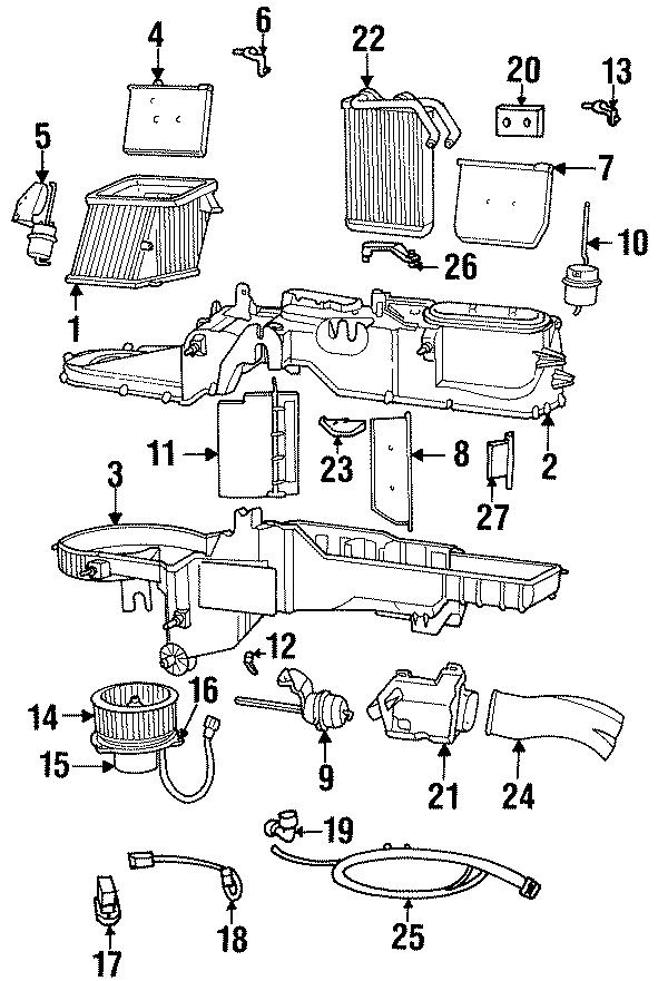 Dodge Ram 1500 Hvac unit case (lower). W/ac. W/o ac, lower