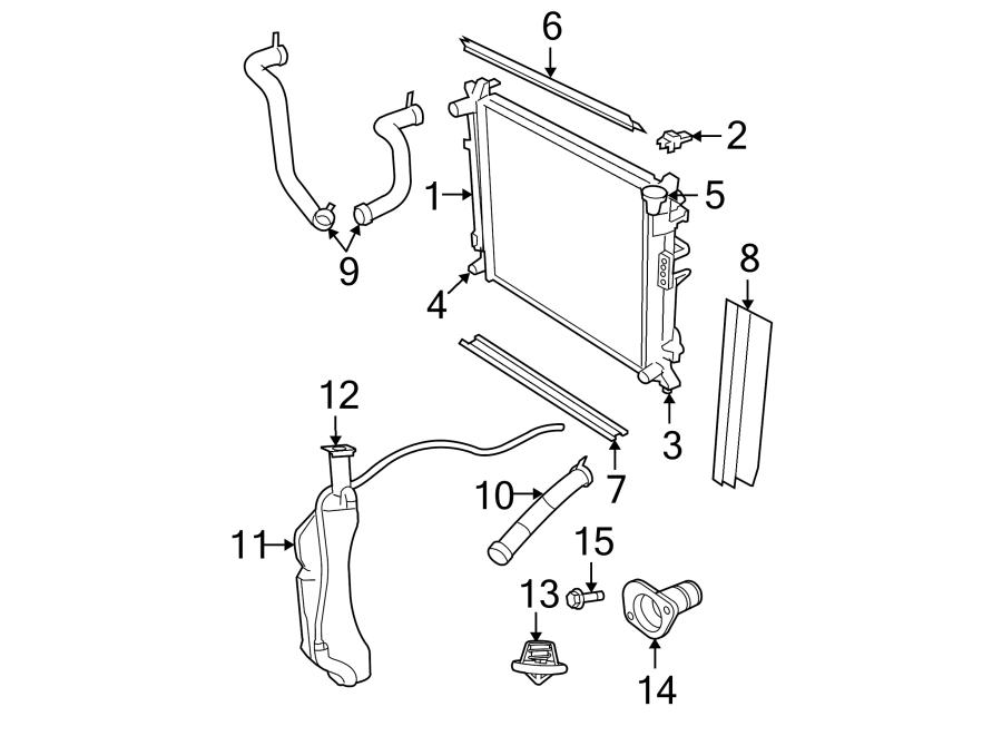 Chrysler Town & Country Radiator Air Seal (Upper, Lower
