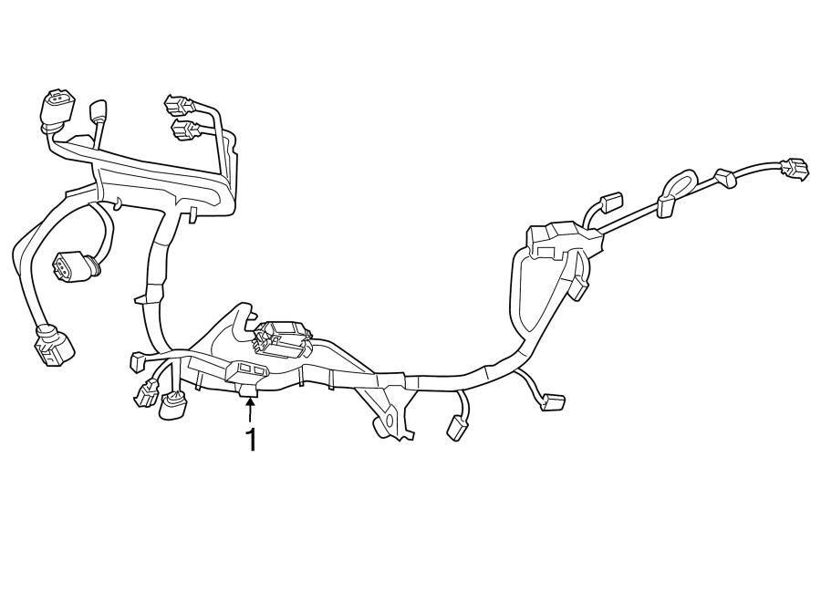Dodge Grand Caravan Engine Wiring Harness. 3.6 liter. FCA
