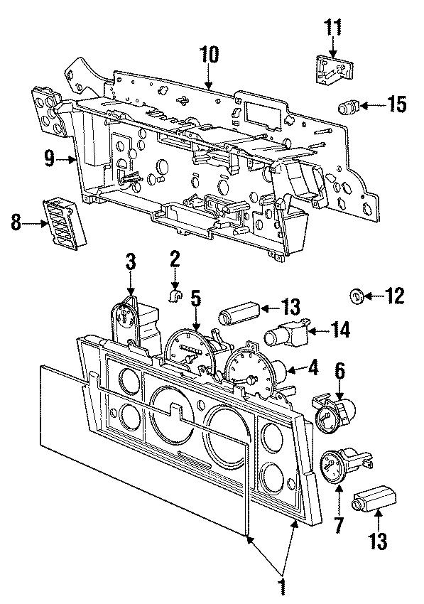 Dodge Caravan Gauge. W/TACHOMETER, tachometer. INSTRUMENT