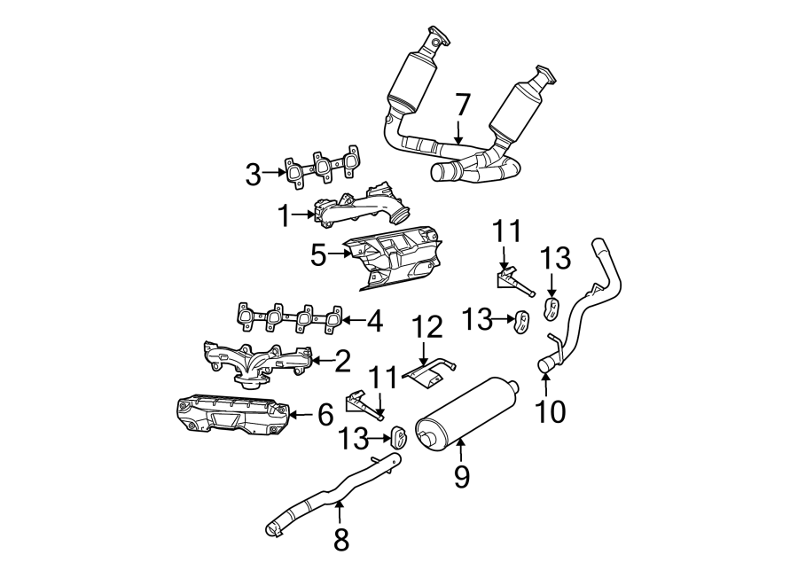 Dodge Dakota Shield. Heat. Exhaust. Manifold. 3.7 & 4.7